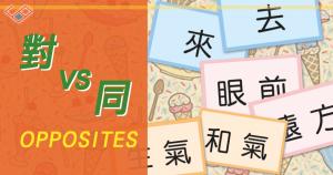 中文反義詞 字卡遊戲 Chinese Antonym card game